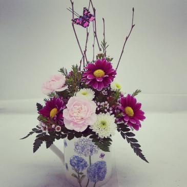 Hydrangea Mug   Bouquet