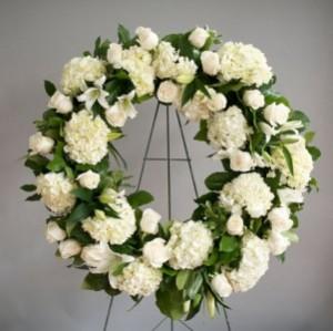 Hydrangea & Rose Wreath   in Oakville, ON   ANN'S FLOWER BOUTIQUE-Wedding & Event Florist