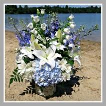 Hydrangea Shell Vase Vase Arrangement