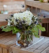 Hydrangea & Thistle Arrangement