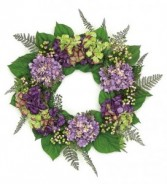 Hydrangeas & Berries Wreath