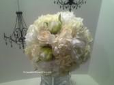 Hydrangeas & Garden Roses Bridal Bouquet
