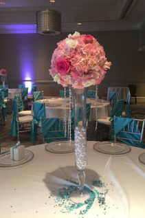 Hydrangeas in Hot Pink Bridal Arrangements