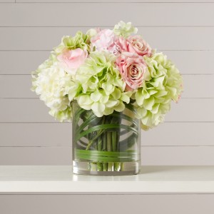 Hydrangeas In The Spring Vase Arrangement