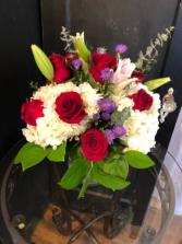 Hydrangeas lilies and roses  in Cornelius, North Carolina | BELLA GRACE FLORAL