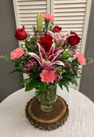 I Adore You Arrangement Tall Vase Arrangement