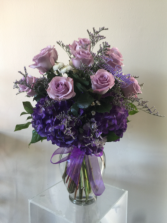 Purple Unique  Floral arrangement