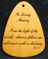 I Am The Light of the World Wind Chime Plaque