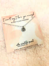 I can't say I love you enough necklace
