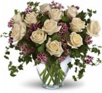 """""""I Do"""" Love White Dozen Roses"""