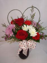 I Heart U! Vase Arrangement