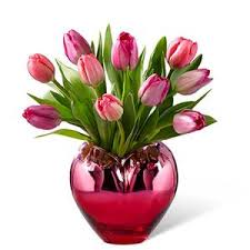 I Heart You Tulips Floral Arrangement