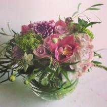 I Love Flowers Vase arrangement