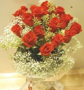 I Love You a Lot !!! 12 Long stem roses with wrap