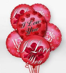 I Love You Balloon Bqt. E-LOVE