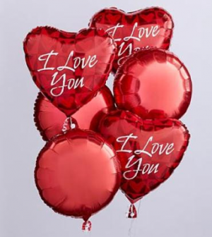 I Love You Balloon Bunch Mylar Balloon in Croton On Hudson, NY | Cooke's Little Shoppe Of Flowers