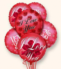 I Love You Balloon Bunch Valentine's Day