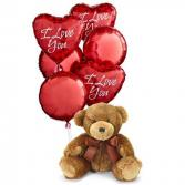 I Love You Balloons with  Bear