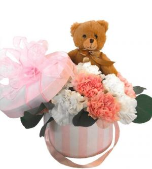 I Love You Beary Much Boxed Flowers Collection  in Biloxi, MS | Rose's Florist
