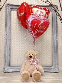 I Love You BEARY Much! Plush/Balloon Gift