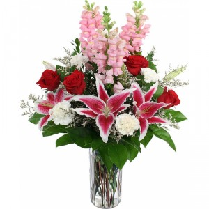 Designer Choice I Love You Bouquet Roses and Liliy Mix Bouquet!