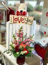 I Love You  Valentine Flowers