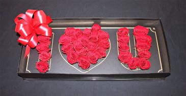 I LOVE YOU BOX OF ROSES Love Floral