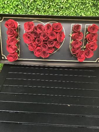 I Love You Box Roses