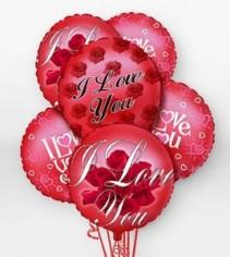 I Love You Bunch  Mylar Balloon Bqt.