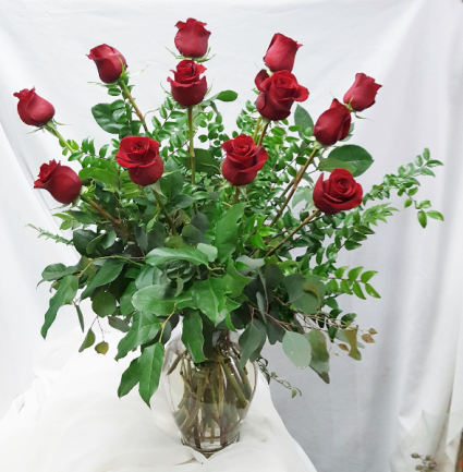 I Love You Dozen Red Roses Fresh Floral Design