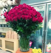 I LOVE YOU   long steam roses
