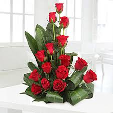 I LOVE YOU MODERN RED ROSE ARRANGEMENT FOR EVERDAY