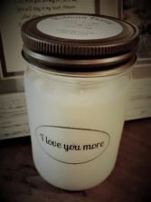 I Love you more candle