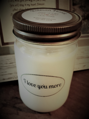 I Love you more candle  in Fairview, TN | Holman Florist