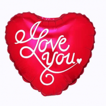 """ I Love You "" Mylar"