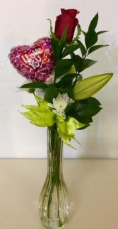 I Love You! Single Bud Vase Floral