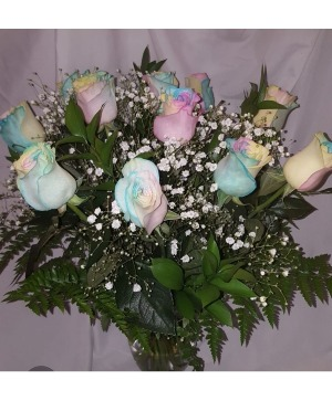 I love you this Marsh Mom       LOCAL DELIVERY ONLY    AVAILABLE MAY 6th     Dozen Marshmallow Roses in a Vase in Bristol, CT | DONNA'S FLORIST & GIFTS