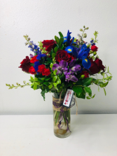 I Only Have Iris For You Flower Arrangement