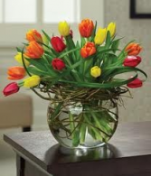 I Really Really Like You  Bubble bowl twig tulips