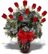 I Love You!! One Dozen Long Stem Roses Arrangement