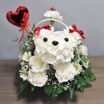 PUPPY LOVE FLOWER BASKET (Local Delivery Only)