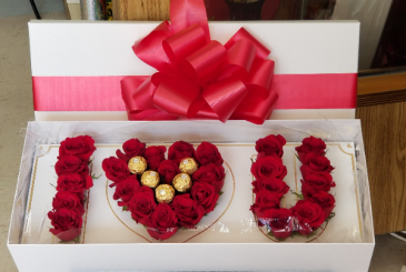 I  Love you to the moon and back Rose's and chocolates