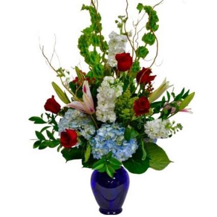 Ice and Fire Vase arrangement