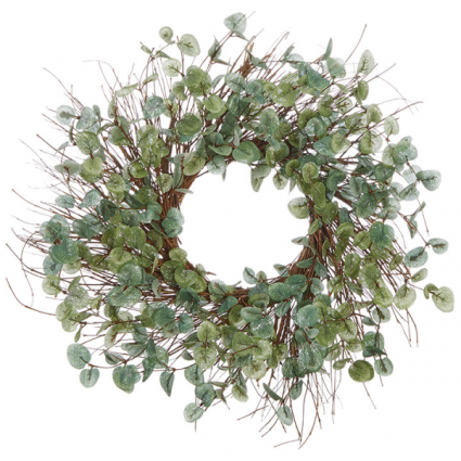 Iced Eucalyptus Wreath (Faux)