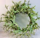 Iced Greens Permanent Botanical Wreath