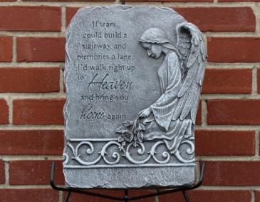 If tears angel plaque