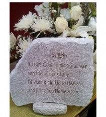 """If Tears Could Build a Stairway 14"""" x 12""""  Memorial Stone"""