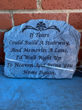 If tears could build........ Slate step stone