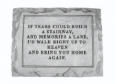 IF TEARS COULD MEMORIAL STONE