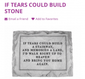 If Tears Could  Stone